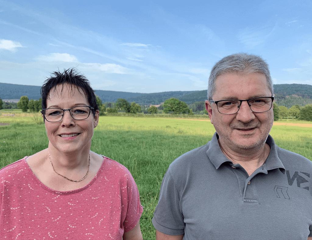 Kreistagskandidaten der SPD 2020 Astrid Zierenberg und Joerg Wallbach