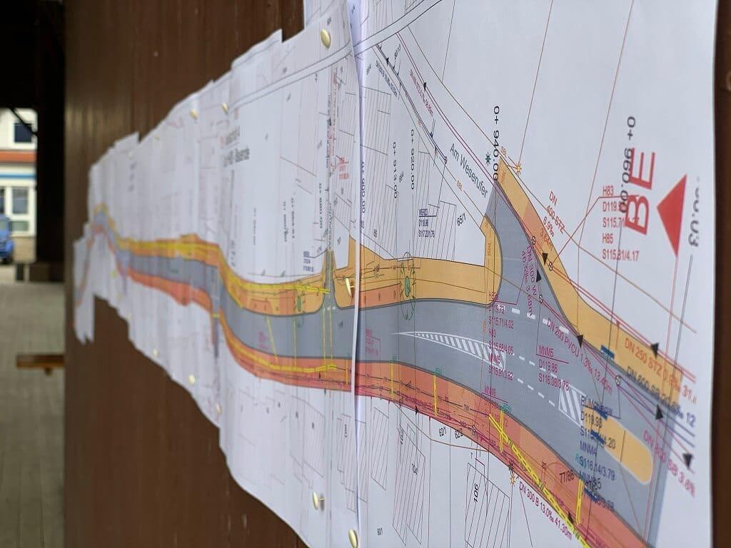 Meinungsbild der Anwohner aufgenommen - Am Weserufer - Bauplan