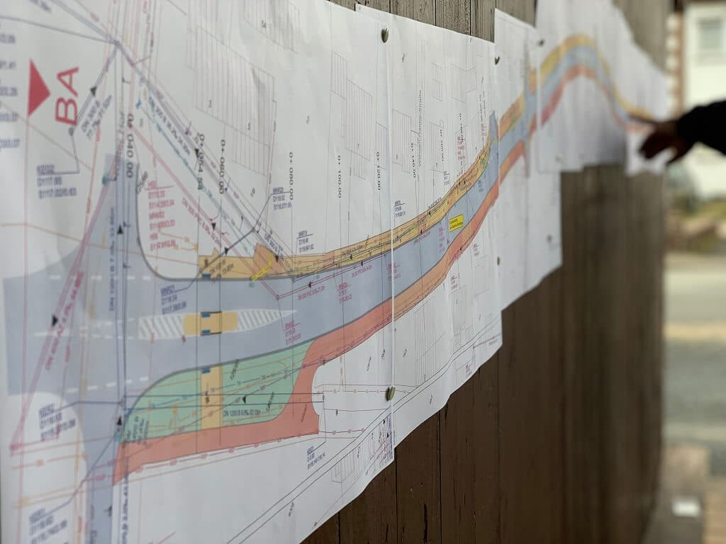 Meinungsbild der Anwohner aufgenommen - Kalter Hof Vaake - Bauplan